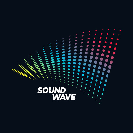 disk jockey: Music concept Sound Wave, Audio Technology, Abstract Shape