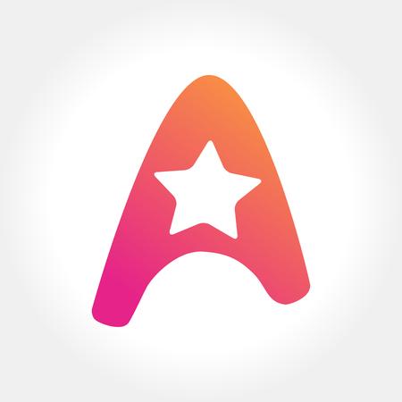 Star inside letter A
