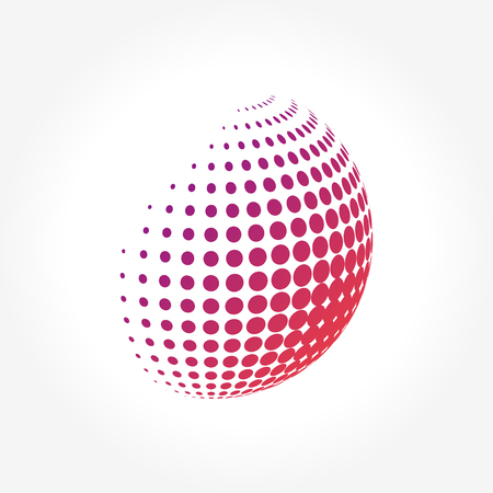 pixelated: Creative abstract, vibrant and colorful icon Sphere Globe Illustration