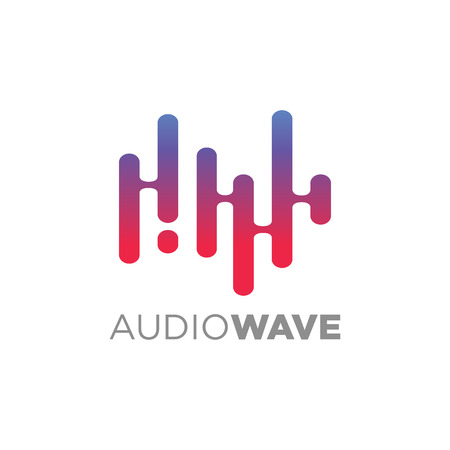disk jockey: Audio wave concept, Multimedia Technology themed, Abstract Shape Illustration