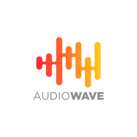Audio wave concept, Multimedia Technology themed, Abstract Shape Illustration