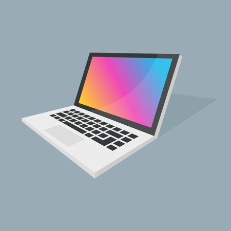 retina display: Isometric vector notebook laptop illustration