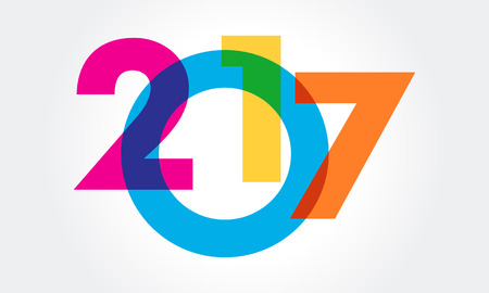 resolution: Colorful Happy new year 2017 Text Design vector