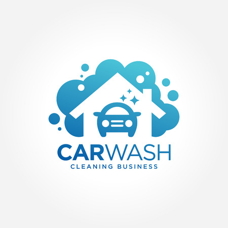 car wash: Car wash logo design