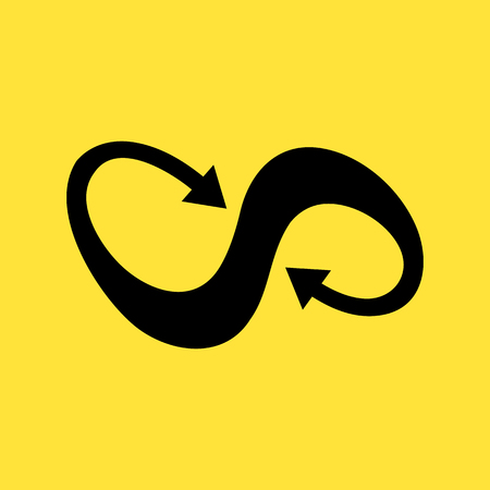 reverberation: infinity symbol with arrow