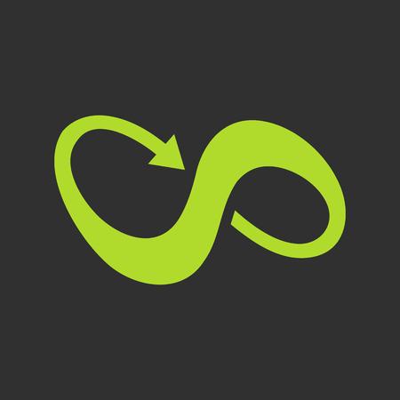 symbole de l'infini avec la flèche