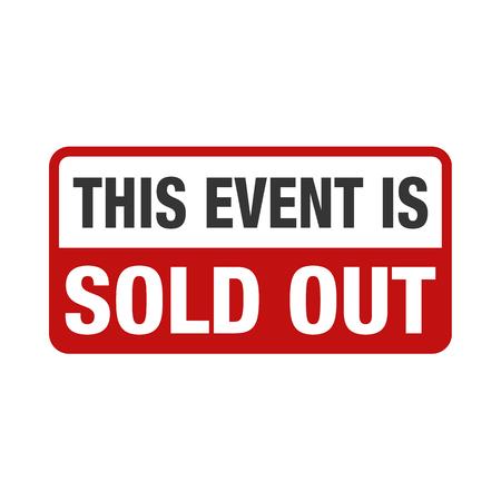 Sold Out Event design concept illustration