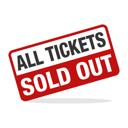 Ticket Sold Out design concept illustration
