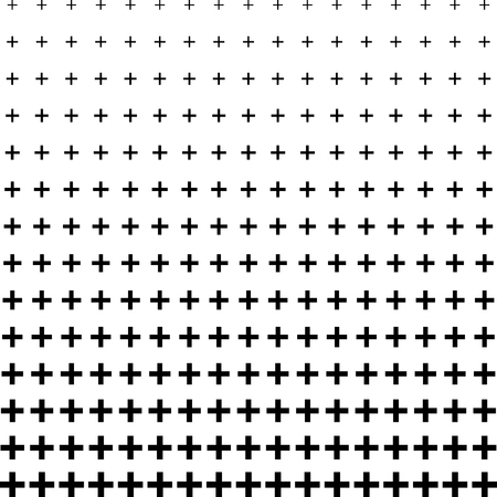 Plus sign half tone pattern background