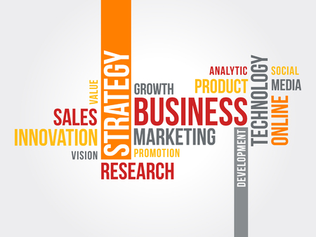 Business Marketing strategy word cloud