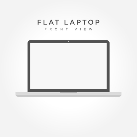 software portability: Laptop icon in the style flat design