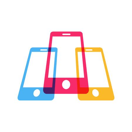 mobilephone: Mobile Phone Technology Business Symbol Design Illustration