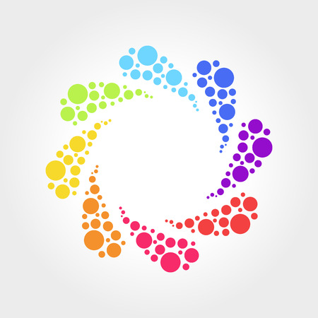 Abstract Colorful Symbol, Geometric vector illustration