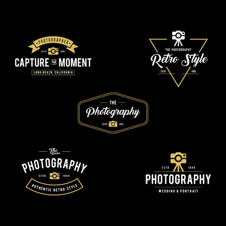 Set of Vintage photography badges and labels Фото со стока - 82557846