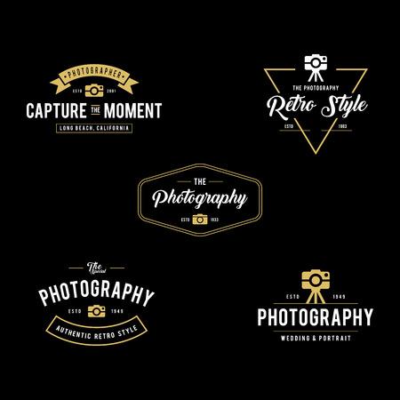 Set of Vintage photography badges and labels Illustration