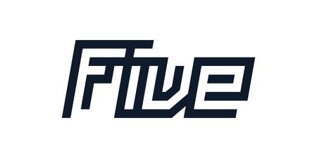 custom modern number five symbol
