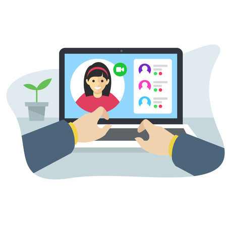 online conference application interface concept Illustration
