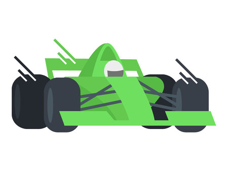 Fast Car Racing vector eps 10 illustration