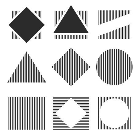 Geometric figures seamless pattern design, Vector eps 10 illustration