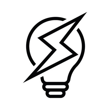 Light Bulb power ideas Concept vector eps 10 in white background Vettoriali