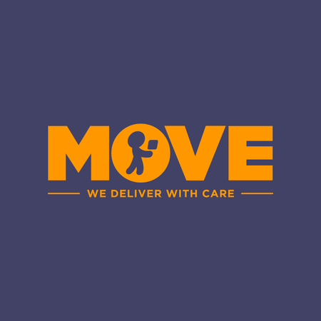 Package delivery symbol design, Vector graphics representing concept of moving