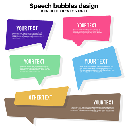 speech bubble set in vector, colorful variation Illustration