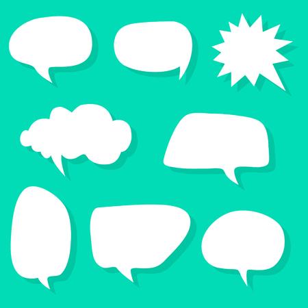 Vector speech bubble variation set Illustration