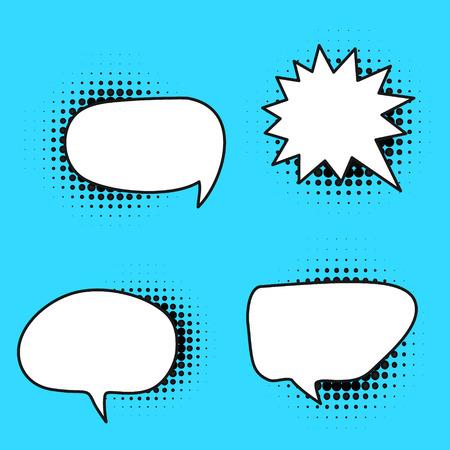 Vector speech bubble variation set Vettoriali