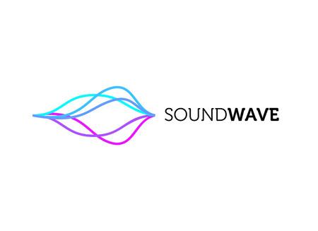 Sound Wave Colorful Logo Design