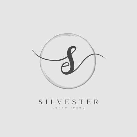 Simple Elegant Initial Letter Type S Business Name Logo Template Ilustrace
