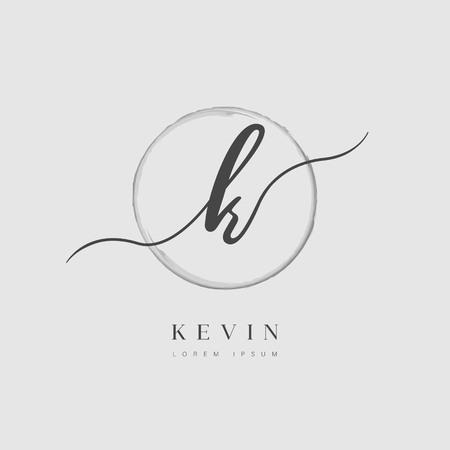 Simple Elegant Initial Letter Type K Business Name Logo Template Illusztráció