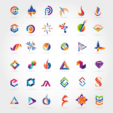Abstract Colorful Logo Design Collection