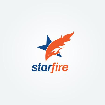 Creative Fire Star Logo Sign Symbol Icon Illustration
