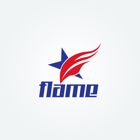 Creative Swoosh Fire Star Logo Sign Symbol Icon