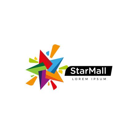Vibrant Colorful Star Logo Sign Symbol Icon