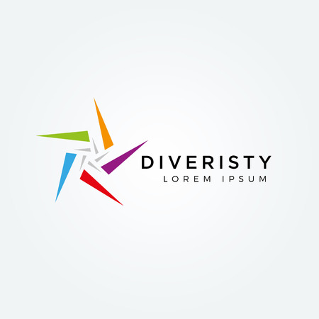 Abstract Colorful Star Diversity Logo Sign Symbol Icon