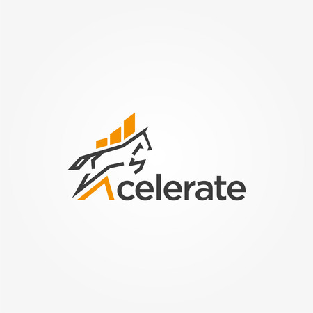 Simple Finance Accelerate Logo Consultant Template Illustration
