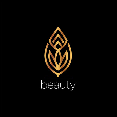 Luxury Beauty Leaf Elegant Logo Style Sign Symbol Icon Illustration
