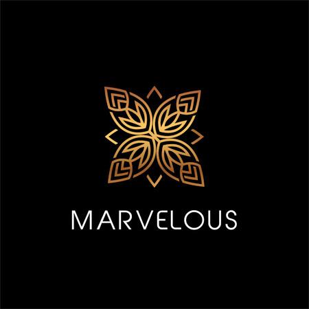 Luxury Beauty Floral Elegant Logo Style Sign Symbol Icon Illustration