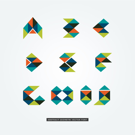 Abstract Colorful Geometric Letter Type Logo Sign Symbol Icon