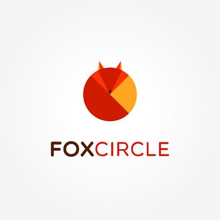 Abstract Circle Fox Shape Logo Sign Symbol Icon