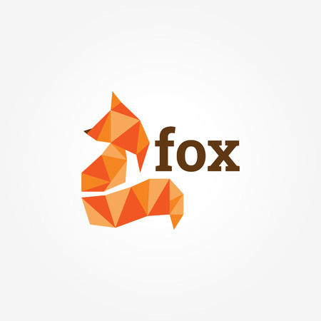 Geometric Fox Logo Sign Symbol Icon 矢量图像
