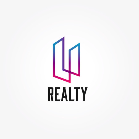 Abstract Realty Property Building Architect Logo Sign Symbol Icon