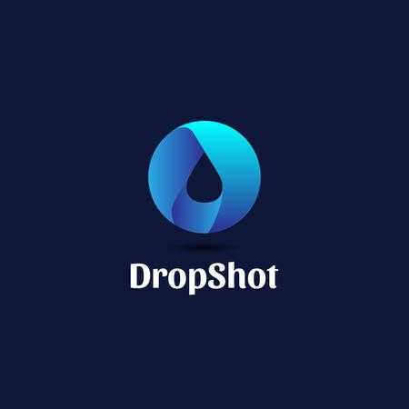 Modern Drop Logo Sign Symbol Icon Illustration