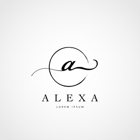 Simple Elegant Initial Letter A Logo Type Sign Symbol Icon