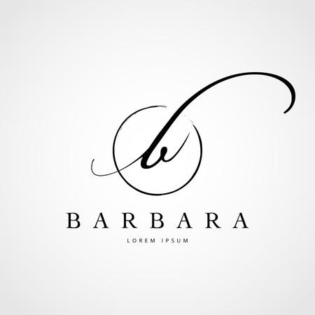 Simple Elegant Initial Letter B Logo Type Sign Symbol Icon Illustration