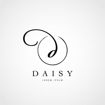Simple Elegant Initial Letter D Logo Type Sign Symbol Icon