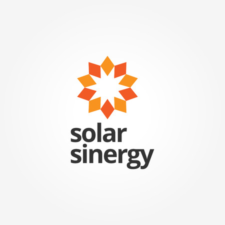 Abstract Sun Energy Logo Sign Symbol Icon Illustration