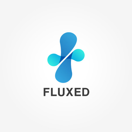 Abstract Dynamic Fluid Logo Sign Symbol Icon