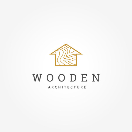 Wooden House Architecture Logo Sign Symbol Icon